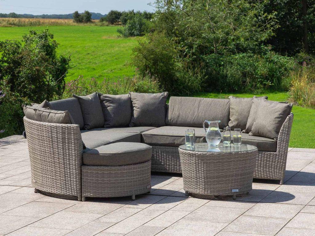 ValenciaWrite Rattan Garden Corner Sofa Set in Grey - 19th July