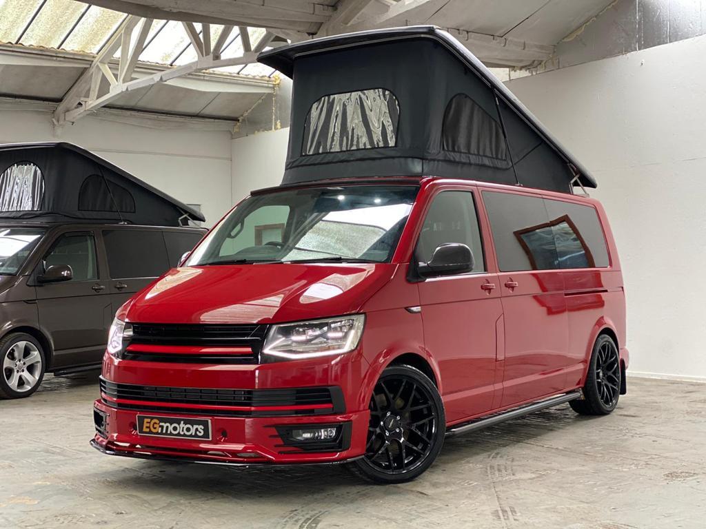 Red VW T6 2.0 BITDI Highline - 280bhp - DSG - Off Grid - 26th April