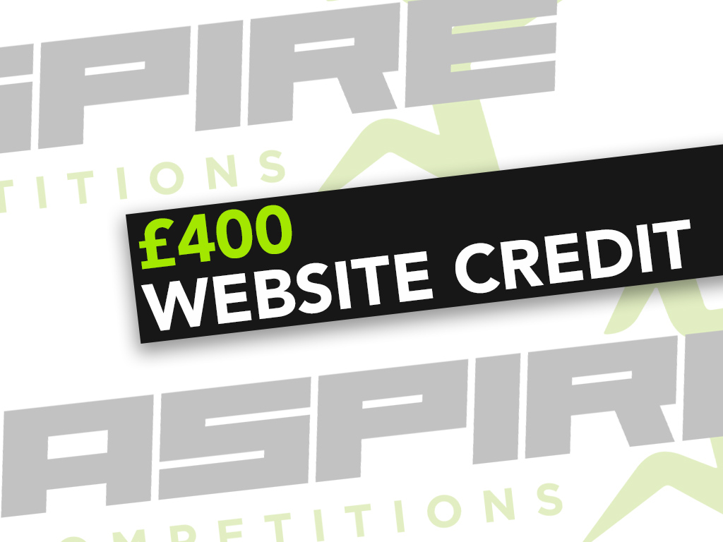 £400 Website Credit - 8th March