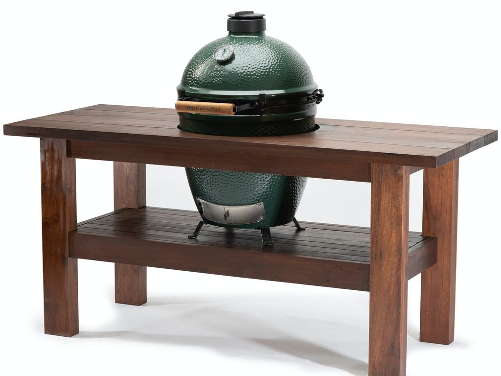 Large Big Green Egg and Mahogany Table - 19th April