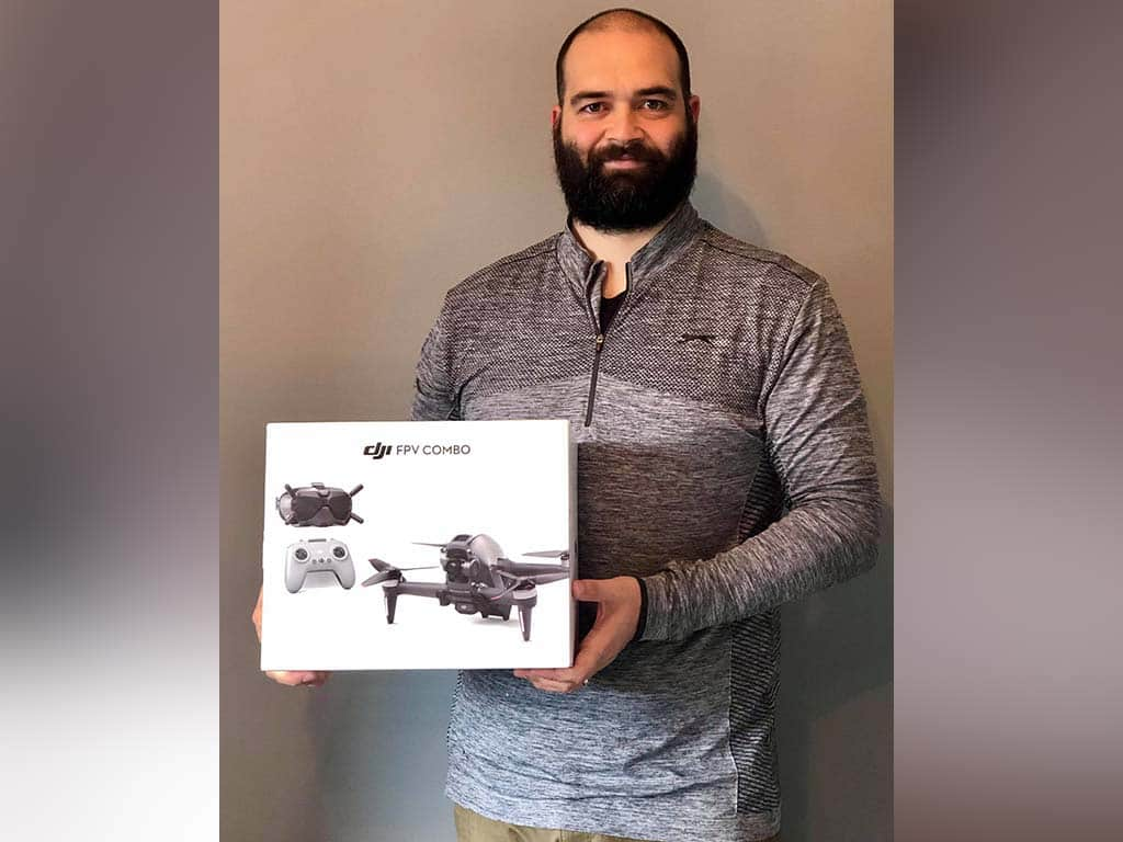 Winner Thomas Summers of a DJI Drone FPV Combo - 9th Aug