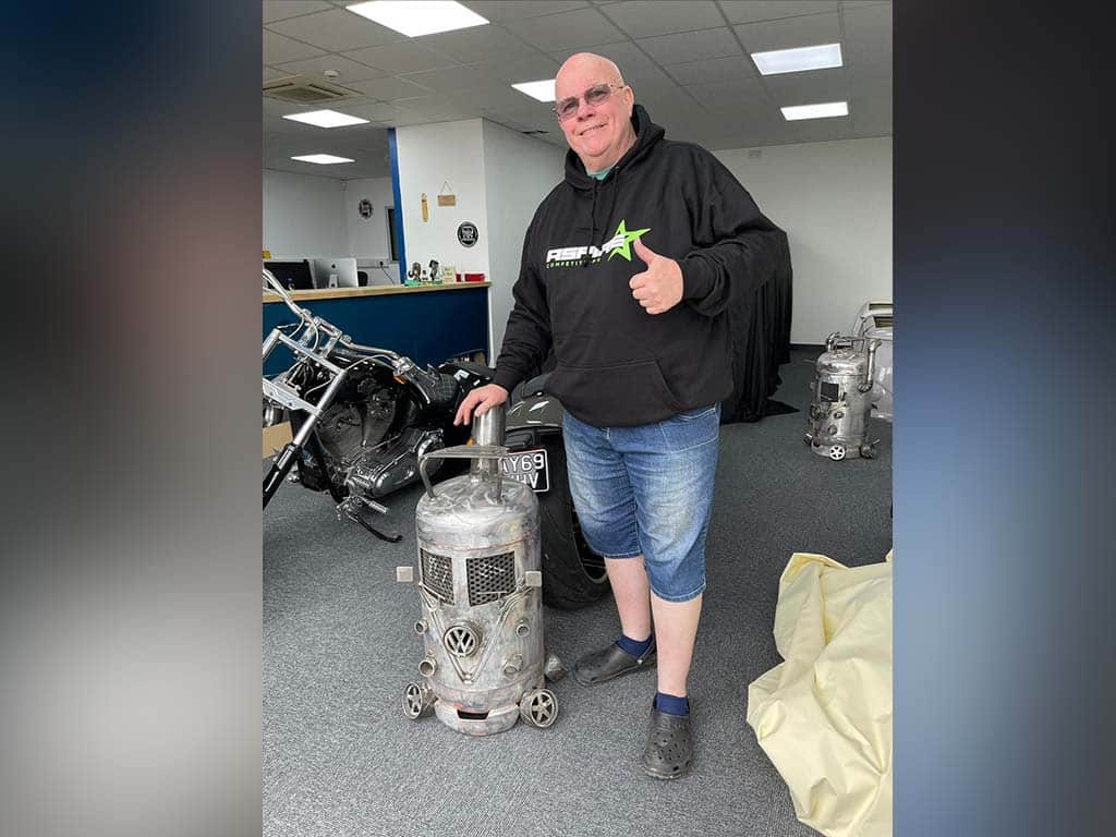 Winner Steven Hutchinson of a VW Log burner - 16th Aug