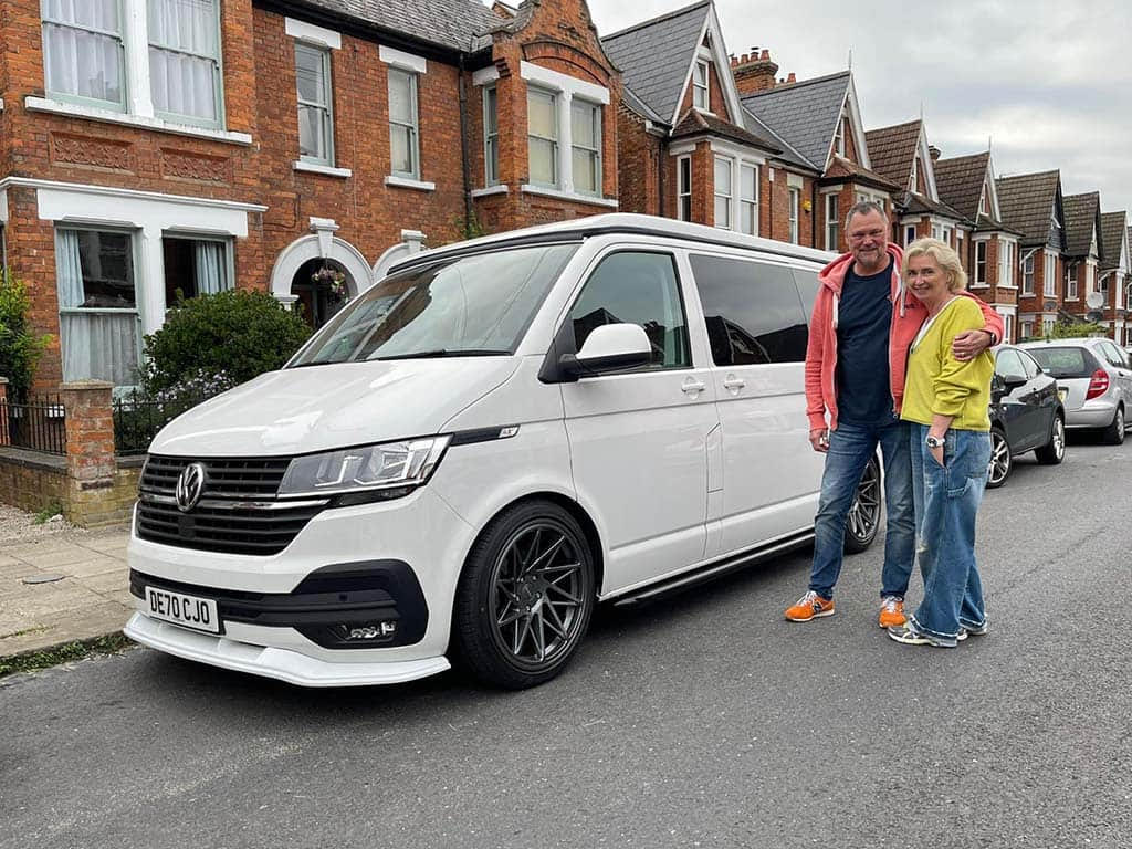 Winner Paul Smith of a 2020 VW T6.1 Highline in snow White with Poptop Roof  - 30th Aug